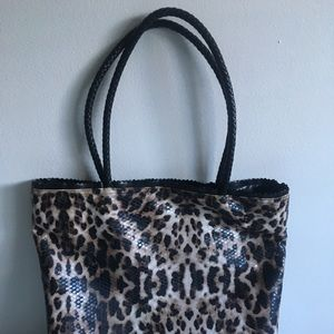 Kenneth Cole Reaction Snakeskin Polyester Purse